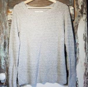 NWOT Loft  Light Gray Raglan Sleeve Sweater Sz M